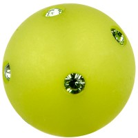 Polaris-Perle Kugel 14 mm, hellgrün mit Swarovski