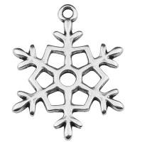 Metallanhänger Schneeflocke 30 x 23 mm, versilbert