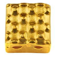 Cymbal Parasporos Perle für  Tila Beads, Viereck 5 x 5 mm, vergoldet