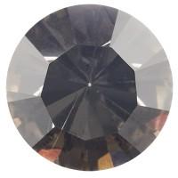 Preciosa Chaton Maxima SS39 (ca. 8 mm), black diamond DF (Dura Foiling)