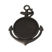 Anhänger/Fassung für Cabochons, rund 25 mm, bronzefarben