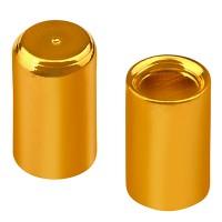 Endkappe ohne Öse, Innendurchmesser 2 mm, vergoldet