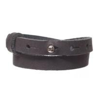 Craft Lederarmband für Sliderperlen, Breite 10 mm, Länge 39 - 40 cm, black