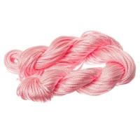 Makramee- und Schmuckband, Durchmesser 1 mm, 22 Meter-Paket, rosa