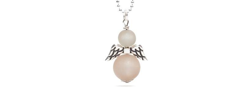 Perlenengel Grau