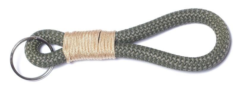 Schlüsselanhänger aus Segelseil Takling-Knoten Khaki