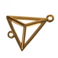 Metallanhänger Dreieck, 20 x 17 mm, vergoldet