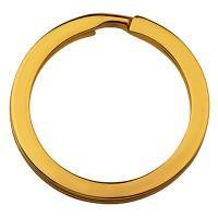 Schlüsselring, goldfarben, Durchmesser 25 mm
