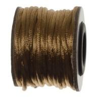 Makramee-Band, Durchmesser 2 mm, 10 Meter-Rolle, hellbraun
