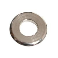 Metallperle, Spacer, rund. 6,5 mm, versilbert