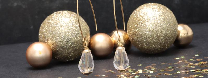 Wundervolle Edelstahl-Ohrhänger crystal