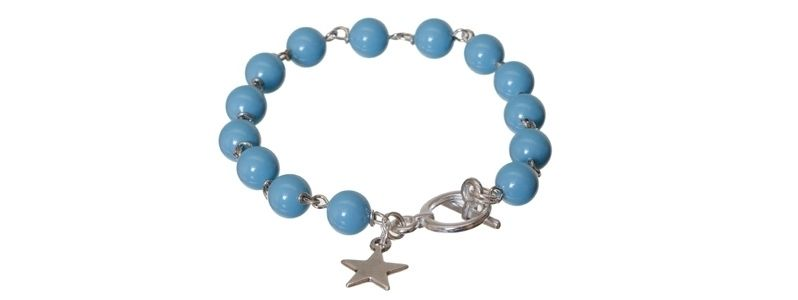 Armband mit Crystal Pearls Turquoise
