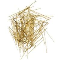 100 Kettelstifte, Länge 32 mm, goldfarben
