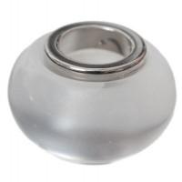 Polaris-Bead, Linse, 12 x 7,5 mm, weiß glänzend