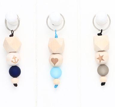DIY Schlüsselanhänger mit Holzperlen