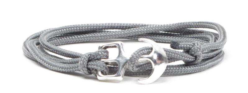 Wickel-Ankerarmband hellgrau