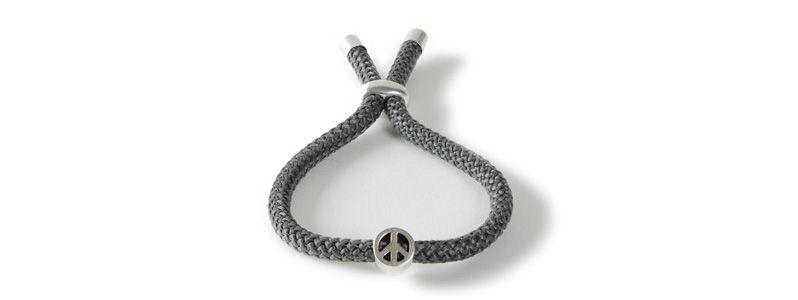 Schiebearmband mit Segelseil Peacezeichen
