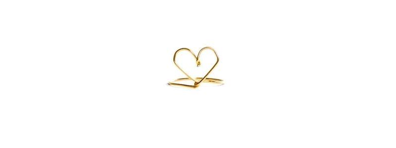 Goldener Ring Herz