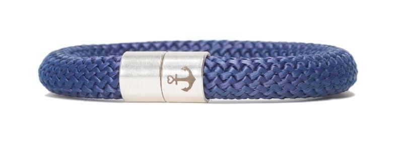 Armband mit Segelseil 10 mm und Magnetverschluss dunkelblau