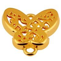 Armbandverbinder Schmetterling, 16 x 13 mm, vergoldet