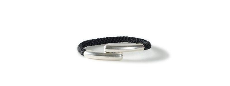 Einfaches Armband mit Segelseil Magnet Schwarz