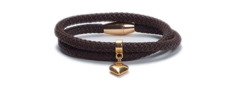 Armband mit Segelseil Braun