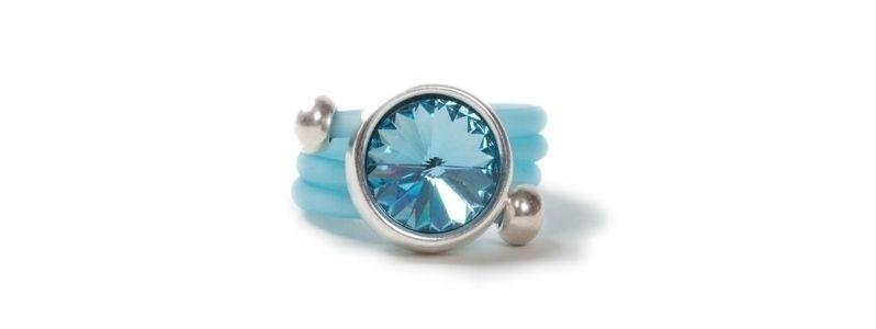 Wickelring Rivoli Aquamarine