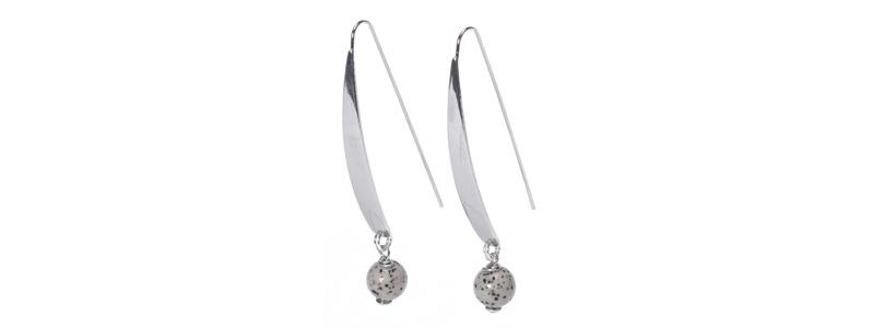 Große Geometrische Ohrhänger Sassi Silberfarben