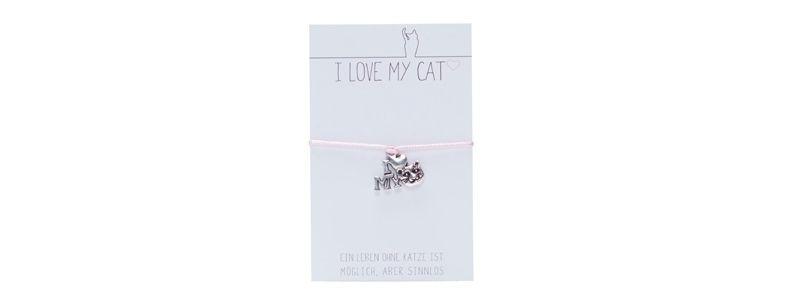 """Wunscharmband """"I Love My Cat"""""""