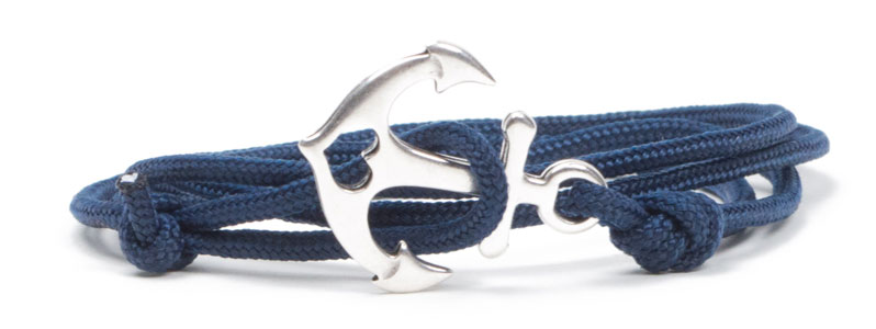Wickel-Ankerarmband blau