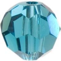 Swarovski Elements, rund, 8 mm, blue zircon