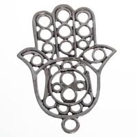 CM Metallanhänger Hamsa, 70 x 50 mm, silberfarben