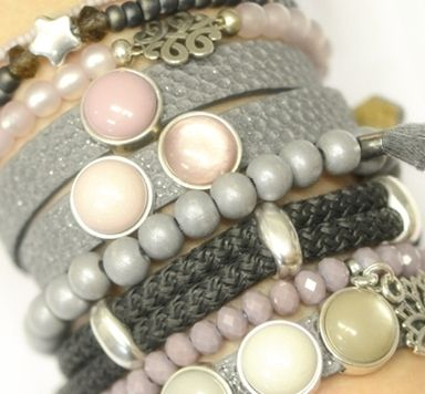 Armbänder zum Farbtrend Neutral Gray