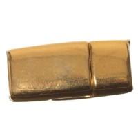 Magnetverschluss, viereckig, für breite Bänder (5 x 2 mm), vergoldet