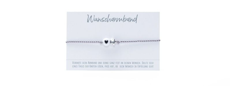 Wunscharmband Herz & Stern II