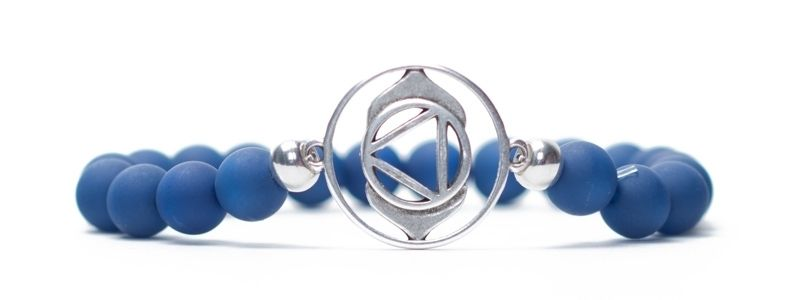 Armband Stirnchakra versilbert blau