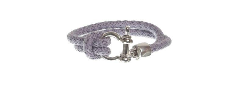 Armband mit Segelseil hellgrau