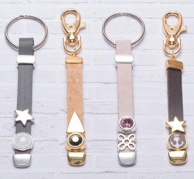 DIY Schlüsselanhänger mit Schiebeperlen und Endkappen