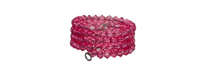 Memory Wire Ring Indian Pink