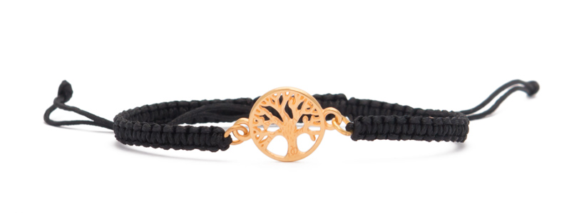 "Makrameearmband mit Armbandverbinder ""Baum des Lebens"""