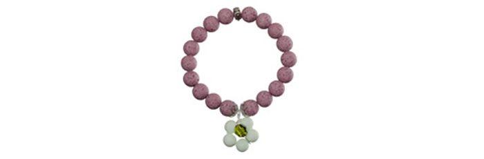 Süßes Blumenarmband Cyclamen Opal