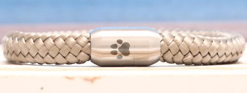 Segeltauarmband mit 8 mm Segeltau Pfote