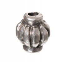 Metallperle Tonne, ca. 12 x 10 mm, versilbert