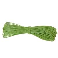Gewachstes Baumwollband, rund, Durchmesser 0,5 - 0,8 mm, 5 m, grün