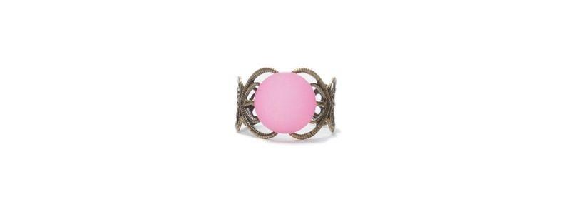 Ring mit  Cabochon Polaris Rose