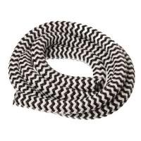 Segelseil / Kordel, Durchm. 10 mm, Länge 1 m, schwarz-weiß gestreift