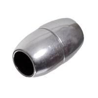 Magnetverschluss für Bänder bis 6 mm, olive, versilbert