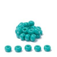 Miyuki Rocailles rund 8/0 (ca. 3 mm), Turquoise Green Opaque, ca. 22 gr