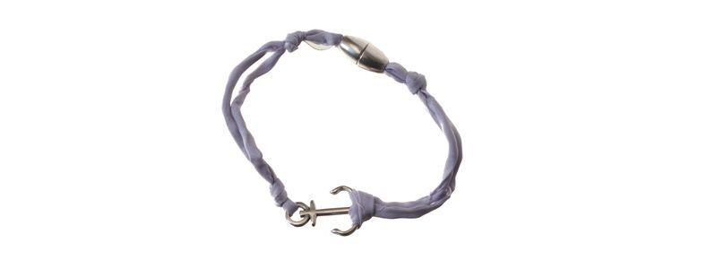 Seiden-Armband Lavendel Anker
