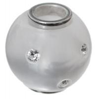 Polaris-Bead, Kugel, 14 mm, weiß glänzend Swarovski